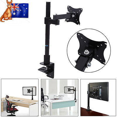 "13-27"" LED LCD Monitor Bracket TV Computer Display Single Arm Desk Mount Stand"