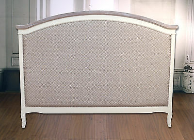 Bed Head French Provincial with Linen Queen Size Headboard Timber Upholstered