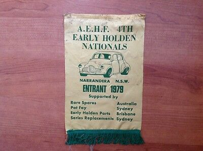 Early Holden Nationals Car Club Sash 1979