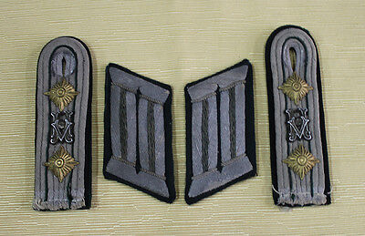 WW2 German Army Signals Officers Board & Collar Tabs Pair
