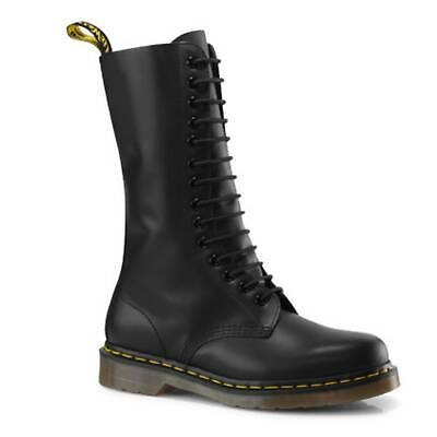 Dr. Martens Unisex 1914 14 Eye Lace Up Genuine Smooth Leather Boots Shoes New