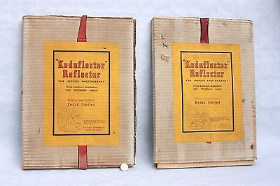 TWO vintage BOXED Kodaflector  REFLECTORS, attach to lamp holders