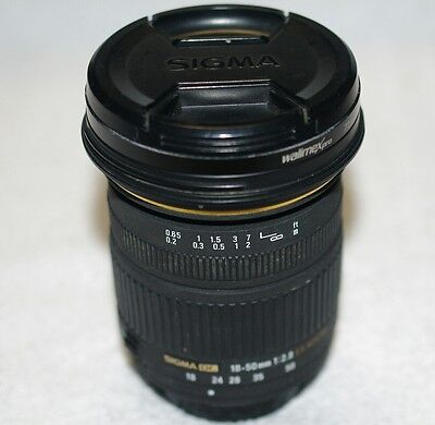 ***EXCELLENT CONDITION LENS/OBJECTIF SIGMA18-50mm 1:2,8 EX DC MACRO***