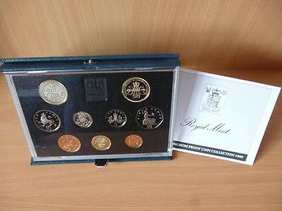 1989 Royal Mint Proof Set Housed In Blue Case With C.o.a. Includes Claim £2