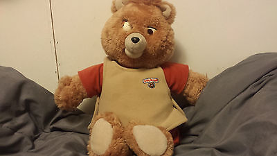 Teddy Ruxpin Doll Cassette Tape Player 1985 Working