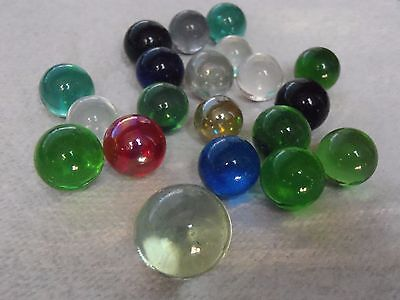 20 Vintage Marbles crystals good colours good condition includes 1 shooter