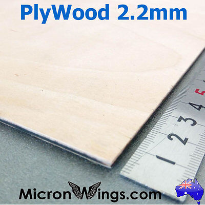 Plywood Sheet 2.2mm Thin Marine Hobby Ply Plywood