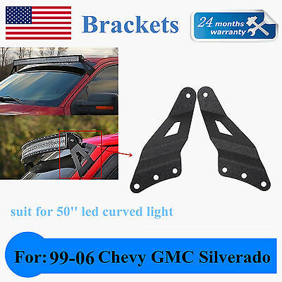 99-06 Chevy Silverado/GMC Sierra Mount Brackets For 50 Inch Curved LED Light UIN