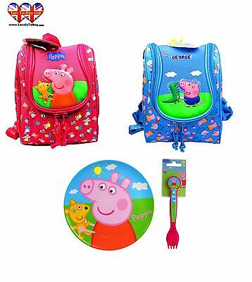 Peppa Pig Kids Backpack/Lunch Bag With Drinking Cup, Perfect for Pre-kids!