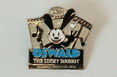 Disney CARD CLUB JAPAN LE Pin Card Stand 2017 Oswald The Lucky Rabbit