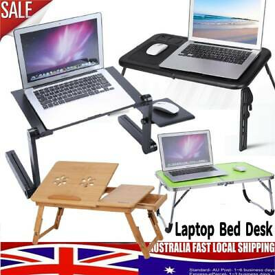Foldable Laptop Desk PC Table Cooling Hole Holder Reading Bed Tray Stand AU SHIP