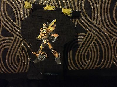 Transformers Bumblebee Pinata with Sweets Birthday Party & Stick