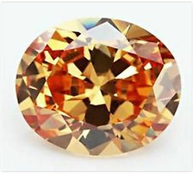 18.38CT UNHEATED CHAMPAGNE SAPPHIRE DIAMOND 13x18MM OVAL CUT VVS LOOSE GEMSTONE