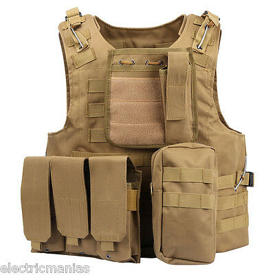 Military MOLLE Airsoft Combat Tactical Vest Army Molle Hunting Paintball Carrier