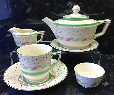 """Crown Ducal """"Glade"""" Pattern Tea for One Service."""