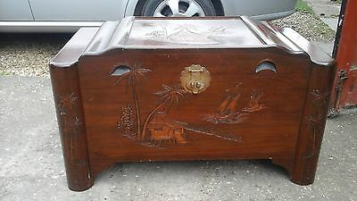 Carved Canphor chest