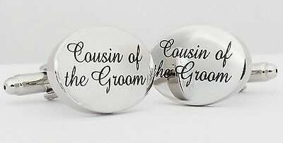 Wholesale Job Lot 25x Pairs Silver OVAL Cousin of the Groom Cufflinks