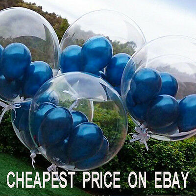 10 -100 Transparent & Clear Balloons For Wedding Anniversaries Birthday baloons