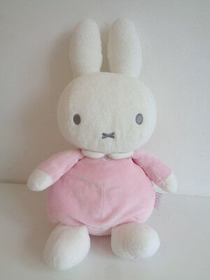 """Miffy 15"""" Pink And White Soft Toy Rabbit - Baby Miffy Toy - Rainbow Designs"""