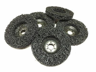 5 x 100mm POLY STRIP DISC BLACK WHEEL CAR PAINT RUST REMOVAL CLEAN ANGLE GRINDER