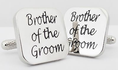 Wholesale Job Lot 58 Pairs Silver Square Wedding Cufflinks Brother of the Groom