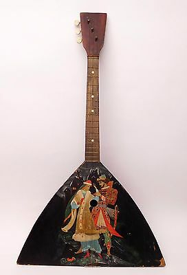 Original Russian Folk Instrument Balalaika 3 string one copy hand painted 1983