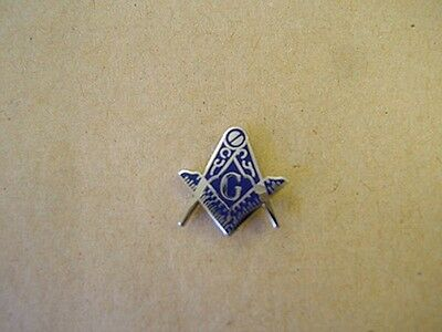 Square and Compass Lrg Lapel Pin