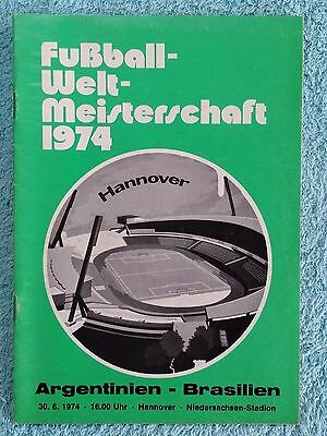 1974 - ARGENTINA v BRAZIL PROGRAMME - WORLD CUP 74 - V.G CONDITION