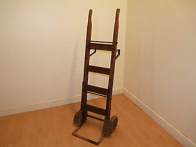 Antique Vintage Old Industrial Sack Barrow Cart Trolley Pub Restaurant Cafe Prop