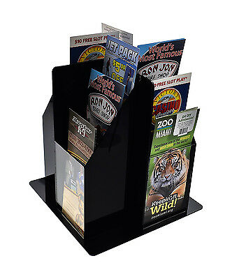 Spinning Literature Rack for Countertop Use, 16 Pockets for 4 x 9-Inches Pamphle