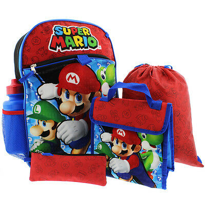 Super Mario 5 piece Backpack School Set SD29360SC Nintendo
