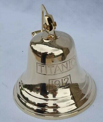 "10"" Extra Large Last Orders BRASS BELL WALL HANGING BRACKET PUB SCHOOL TITANIC"