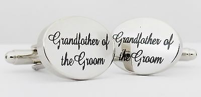 Wholesale Job Lot 50x Pairs Silver OVAL Grandfather of the Groom Cufflinks