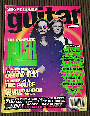 Guitar School Magazine March 1994 Rush / Geddy Lee / In Deep With The Police