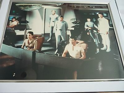 Star Trek Framed Lot 8x10 lobby cards press photos Motion picture Crew bridge