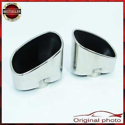 Stainless Steel Muffler Exhaust Tip Tail Extension Pipe BMW X5 E70 2007-2009