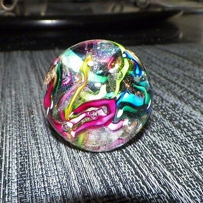 Vintage 1992 Ges Art Glass Paperweight Multi Color Design