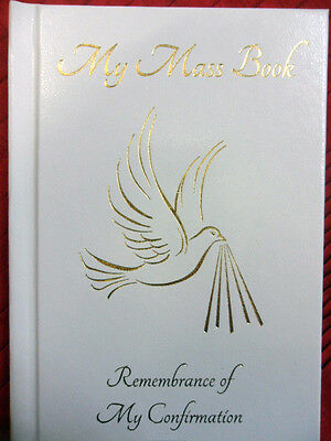 Confirmation Catholic Missal. White faux leather with gold stamping