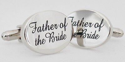 Wholesale Job Lot 50x Pairs Silver OVAL Father of the Bride Cufflinks