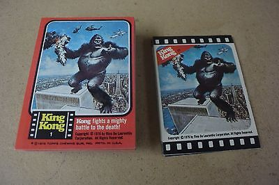 King Kong - Complete Card / Sticker SET (55/11) - TOPPS 1976 - NM