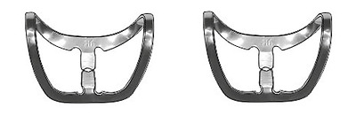 2 pc Dam Clamp Brinker for the front teeth of the upper and lower jaws (B6)