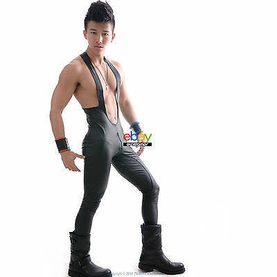 Menes Gay Compression Compression Long Pants Party Overalls Trouser (P01&P06)