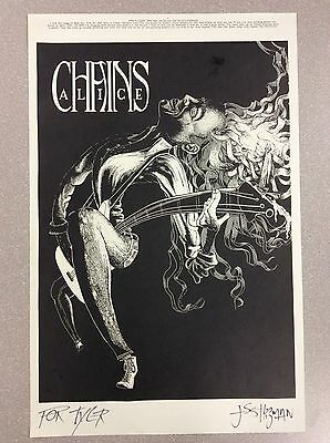 **SIGNED** by Artist Jesse Higman ALICE IN CHAINS Poster — Lollapalooza