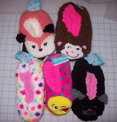 Girls Jacques Moret Fuzzy Babba Slipper Socks Multiple Options/Sizes New W/Tags