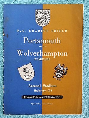 1949 - CHARITY SHIELD PROGRAMME - PORTSMOUTH v WOLVES - ORIGINAL