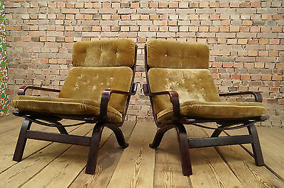 60er Retro EASY CHAIR DANISH LOUNGE ARMCHAIR Vintage Westnofa Era ROSEWOOD 1/2