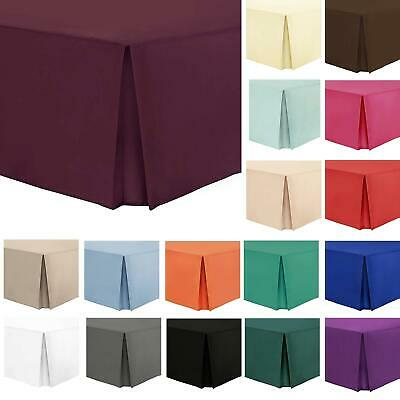 Luxury Easy Care Box Pleated Bed Platform Base Valance Sheet SALE All Sizes