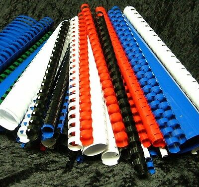 94 x Binding Combs A4 White Black Blue Red Green 6 8 10 12.5 14 19 20 mm AA10