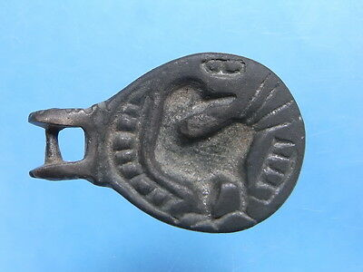 Superb Teardrop Shaped 16th Century Period Bronze Martlet Seal Matrix. (A1019)