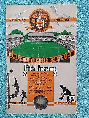 1954 - CHARITY SHIELD PROGRAMME - WOLVES v WEST BROM